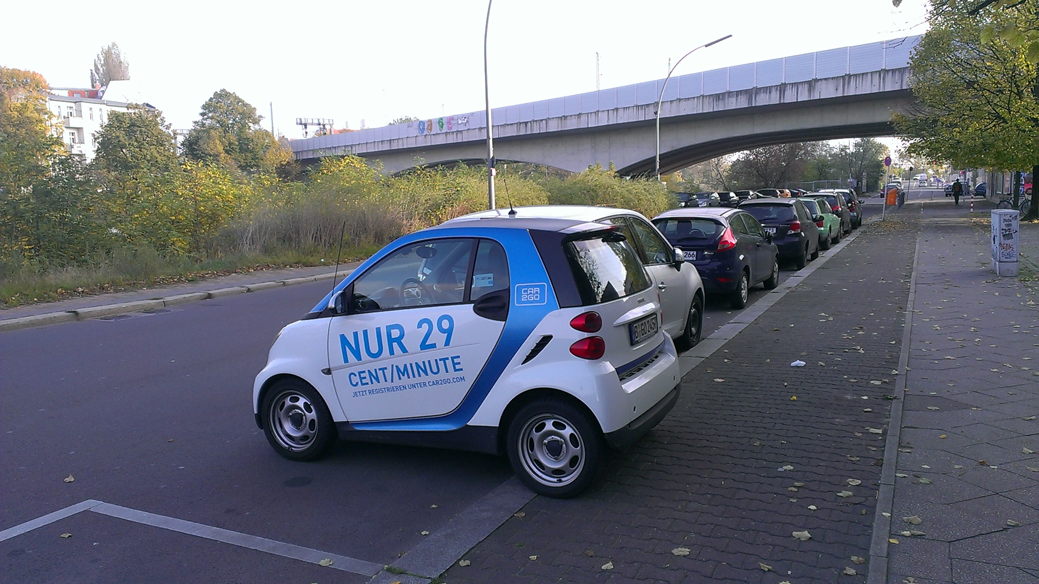 Ein Wagen des Europcar- oint Ventures Car2Go in Berlin